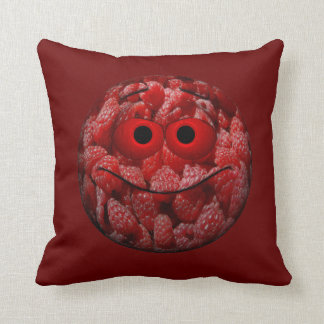 Funny Raspberry Emoticon Pillow