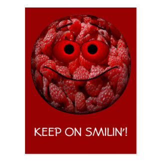 Funny Raspberry Emoticon Post Cards