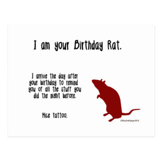 Funny Rat Birthday Card