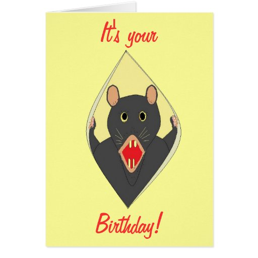 Funny Rat birthday card for anyone.