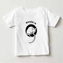 Funny Rat RatZilla Baby T-Shirt