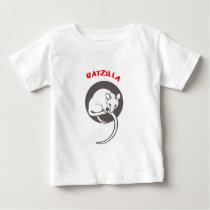 Funny Rat RatZilla grey Baby T-Shirt