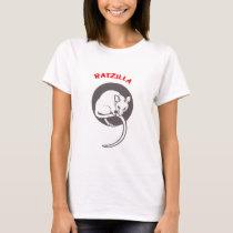 Funny Rat RatZilla grey T-Shirt