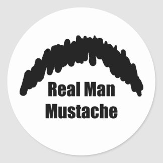 Funny Real Men Cookie Duster Mustache Sticker
