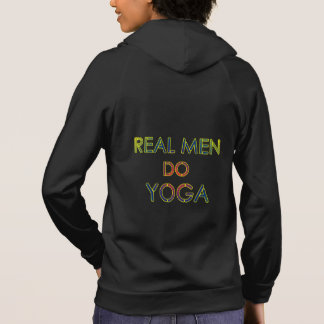Funny real men do yoga hoodie with om symbol