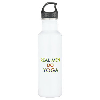 Funny real men do yoga water bottle