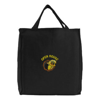 Funny Realtor Open House Embroidered Bag