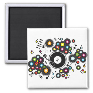 Funny_Record 2 Inch Square Magnet