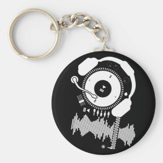 Funny_Record Basic Round Button Keychain