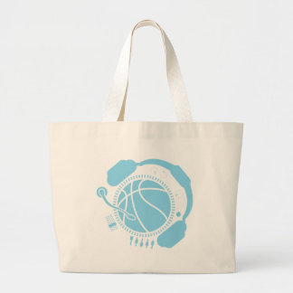 Funny_Record Large Tote Bag