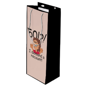Funny Recount 50th Birthday Wine Gift Bag