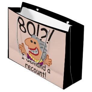 Funny Recount 80th Birthday Large Gift Bag