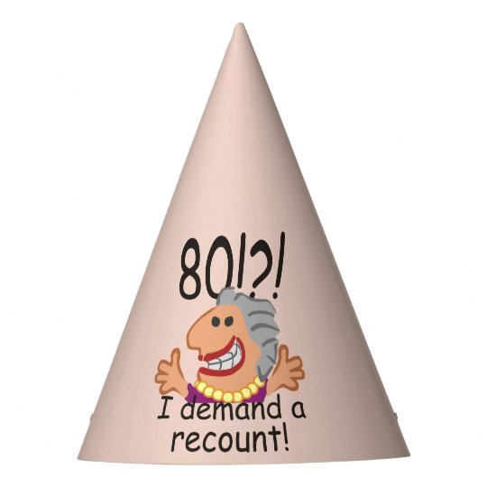 Funny Recount 80th Birthday Party Hat