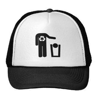 Funny recycle trucker hat