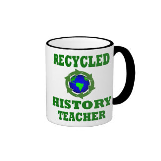 Funny Recycled History Teacher Mugs