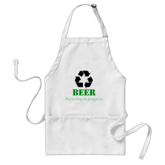 Funny recycling apron with beer saying