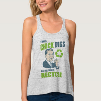Funny Recycling Slogan Tank Top