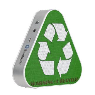 Funny Recycling Symbol Warning Speaker