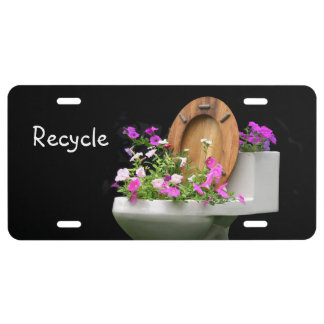 Funny recyle license plate