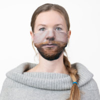 Funny Red Beard Moustache Men Hair Cloth Face Mask