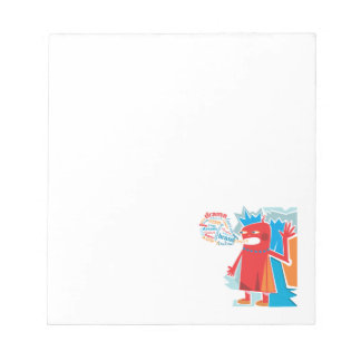 Funny Red Blabber Character Notepad