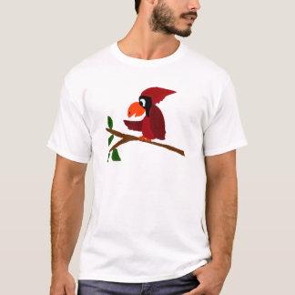 Funny Red Cardinal Bird Art T-Shirt