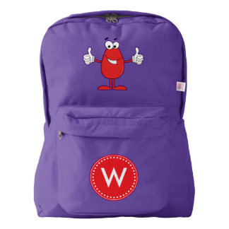 Funny Red Cartoon Backpack