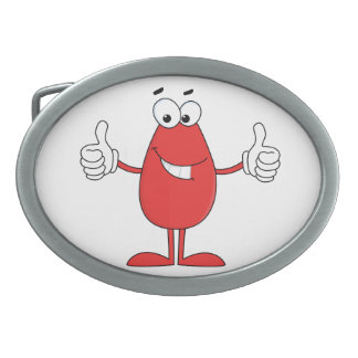 Funny Red Cartoon Belt Buckle