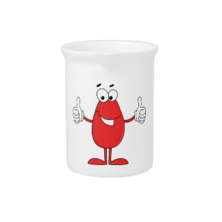 Funny Red Cartoon Beverage Pitcher