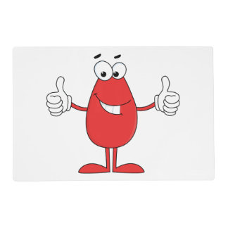 Funny Red Cartoon Laminated Placemat