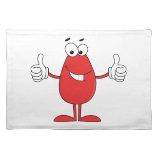 Funny Red Cartoon Cloth Placemat