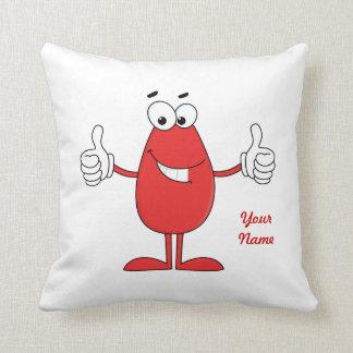 Funny Red Cartoon Throw Pillow