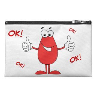 Funny Red Cartoon Travel Accessory Bag