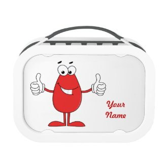 Funny Red Cartoon Yubo Lunch Boxes