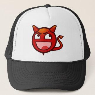 Funny Red Devil Smiley Face Trucker Hat