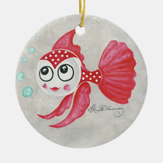 Funny Red Fish Christmas Tree Ornaments