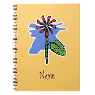 Funny Red Flower Notebook