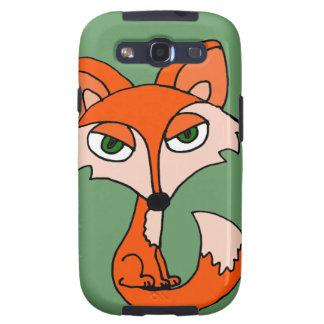 Funny Red Fox Art Galaxy SIII Case