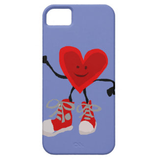 Funny Red Heart in Sneakers Cartoon iPhone SE/5/5s Case