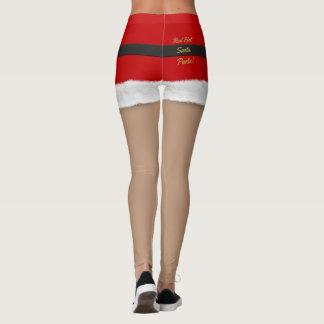 Funny Red Hot Hipster Santa Christmas Leggings