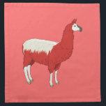 "Funny Red Llama Napkin<br><div class=""desc"">Funny Red Llama</div>"