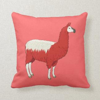 Funny Red Llama Throw Pillow