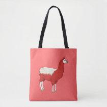 Funny Red Llama Tote Bag