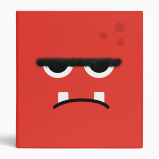 Funny Red Monster Face 3 Ring Binder