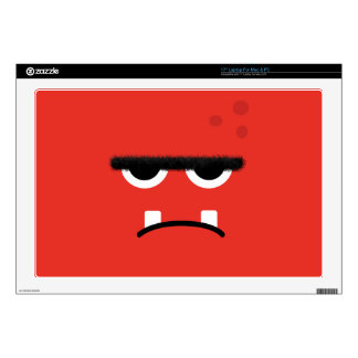 Funny Red Monster Face Decal For Laptop