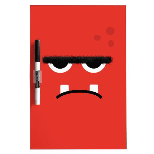 Funny Red Monster Face Dry Erase Whiteboards