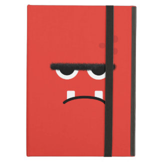 Funny Red Monster Face iPad Case