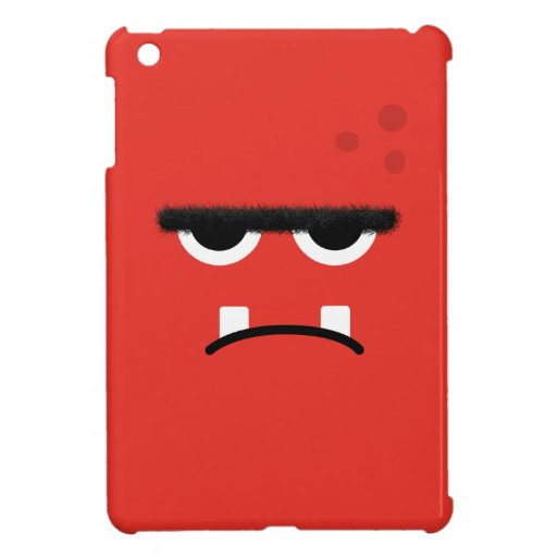Funny Red Monster Face iPad Mini Case