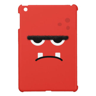 Funny Red Monster Face iPad Mini Cases
