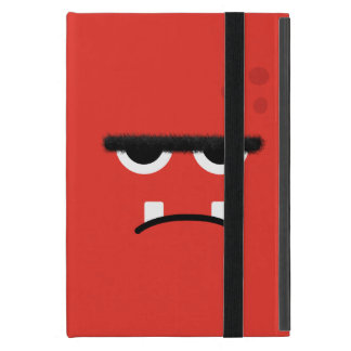 Funny Red Monster Face iPad Mini Cover